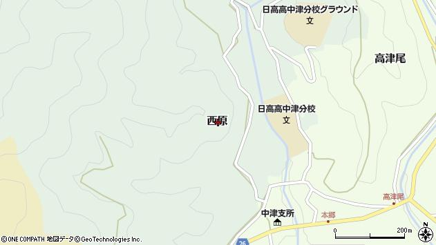 〒644-1121 和歌山県日高郡日高川町西原の地図