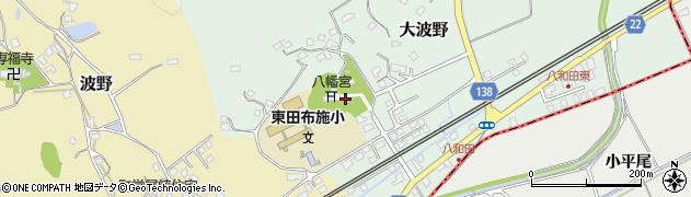 八和田八幡宮周辺の地図