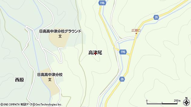 〒644-1122 和歌山県日高郡日高川町高津尾の地図