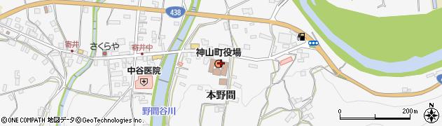 徳島県名西郡神山町周辺の地図