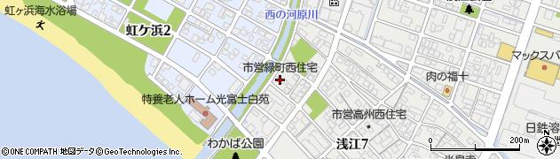 緑町西市営アパート周辺の地図