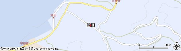 愛媛県松山市熊田周辺の地図