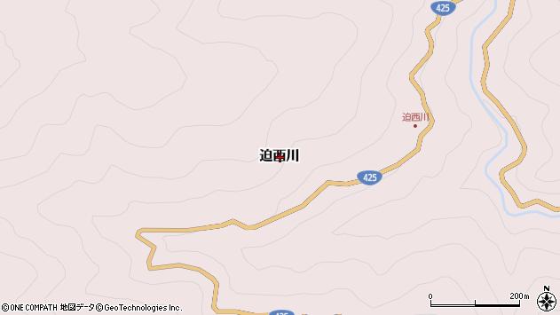 〒637-1668 奈良県吉野郡十津川村迫西川の地図