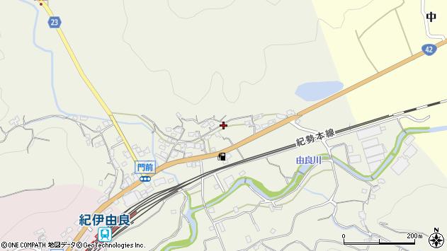〒649-1103 和歌山県日高郡由良町門前の地図