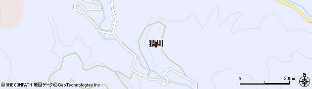 愛媛県松山市猿川周辺の地図