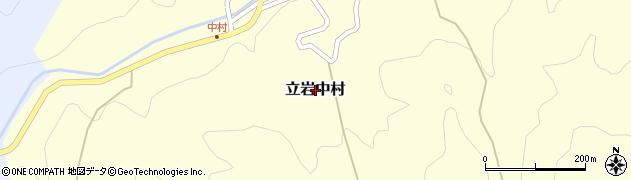 愛媛県松山市立岩中村周辺の地図