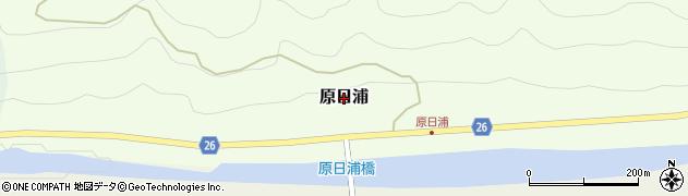 和歌山県日高川町(日高郡)原日浦周辺の地図