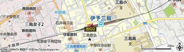 愛媛県四国中央市周辺の地図