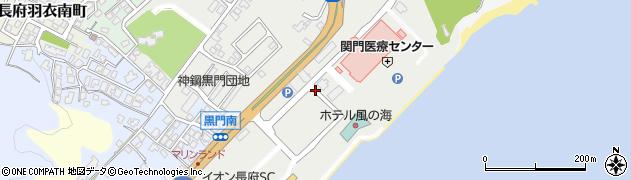山口県下関市長府外浦町周辺の地図