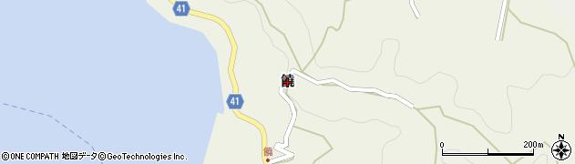 愛媛県松山市饒周辺の地図
