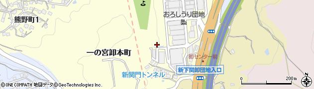 山口県下関市一の宮卸本町周辺の地図