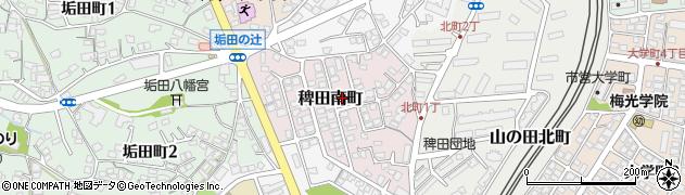 山口県下関市稗田南町周辺の地図