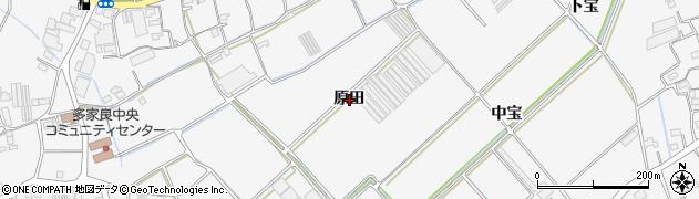 徳島県徳島市多家良町(原田)周辺の地図