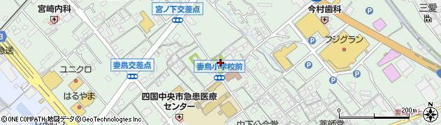 定蓮寺周辺の地図