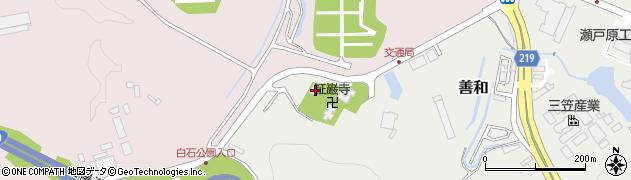 証巌寺周辺の地図