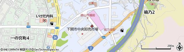 山口県下関市一の宮住吉周辺の地図