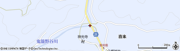 喜来中央橋周辺の地図