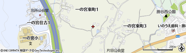 山口県下関市一の宮東町周辺の地図