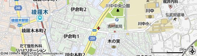 山口県下関市伊倉町周辺の地図