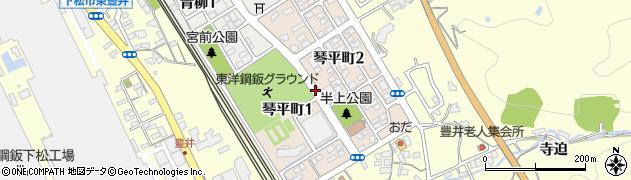 山口県下松市琴平町周辺の地図