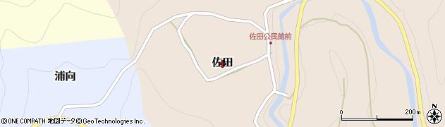 奈良県下北山村(吉野郡)佐田周辺の地図