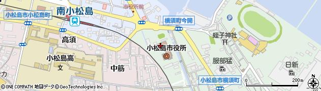 徳島県小松島市周辺の地図