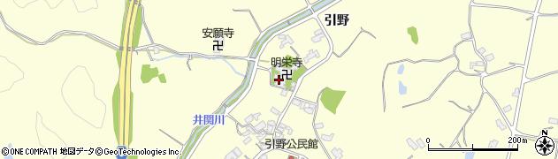 明栄寺周辺の地図