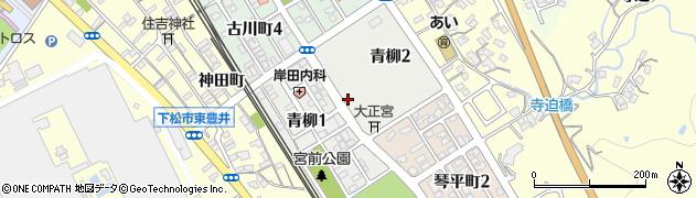 山口県下松市青柳周辺の地図