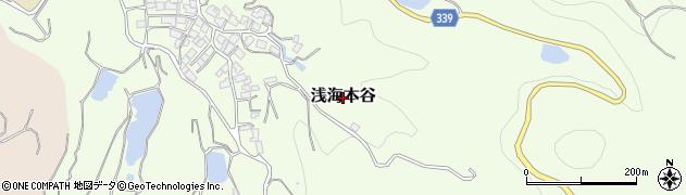 愛媛県松山市浅海本谷周辺の地図