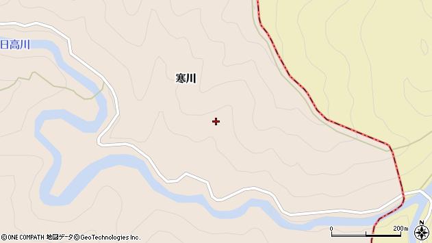 〒645-0551 和歌山県日高郡日高川町寒川小川の地図