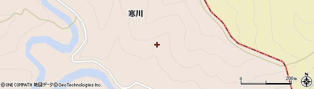 和歌山県日高川町(日高郡)寒川(小川)周辺の地図
