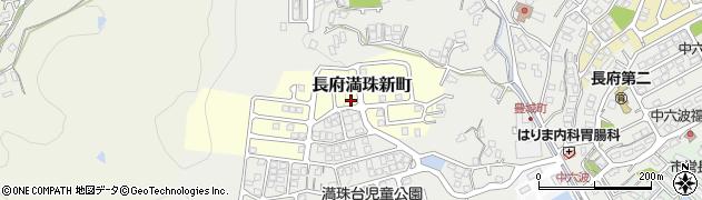 山口県下関市長府満珠新町周辺の地図