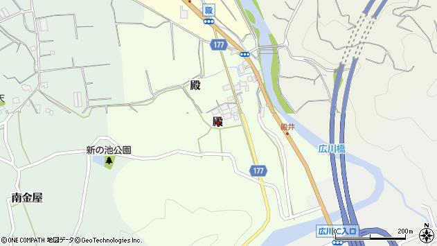 〒643-0062 和歌山県有田郡広川町殿の地図
