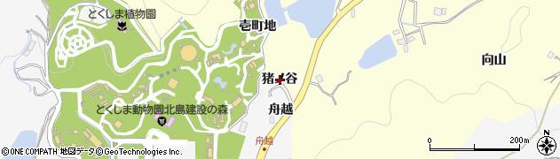 徳島県徳島市方上町(猪ノ谷)周辺の地図