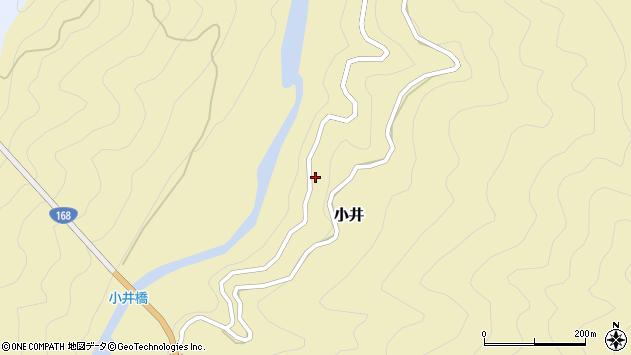 〒637-1336 奈良県吉野郡十津川村小井の地図