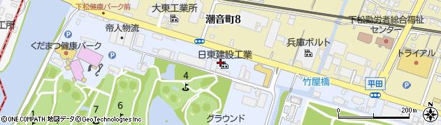 山口県下松市平田(西開作)周辺の地図