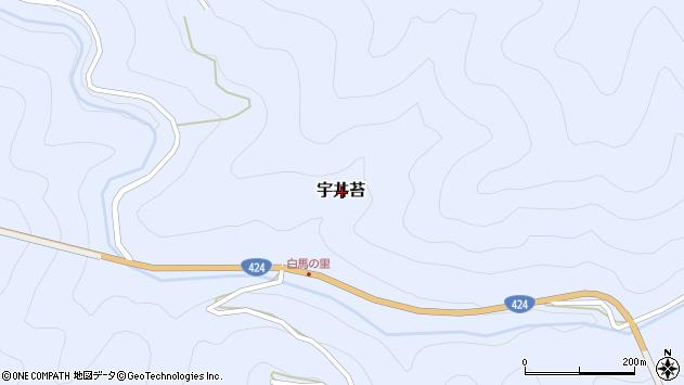 〒643-0164 和歌山県有田郡有田川町宇井苔の地図