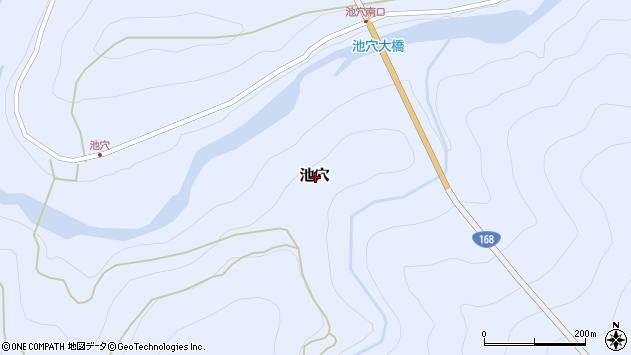 〒637-1215 奈良県吉野郡十津川村池穴の地図