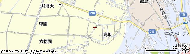 徳島県徳島市方上町(中開)周辺の地図