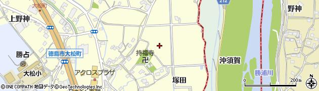 徳島県徳島市大松町(宮ノ本)周辺の地図