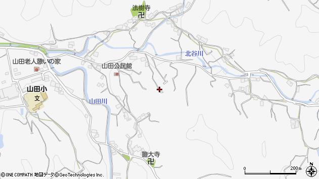 〒643-0001 和歌山県有田郡湯浅町山田の地図
