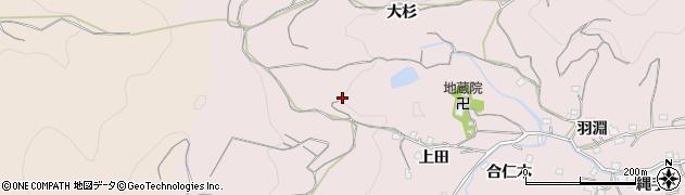 徳島県徳島市北山町(大杉)周辺の地図