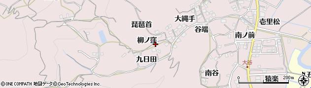 徳島県徳島市大谷町(九日田)周辺の地図
