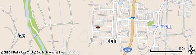 徳島県徳島市上八万町(中山)周辺の地図