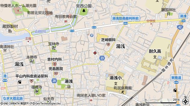 〒643-0004 和歌山県有田郡湯浅町湯浅の地図