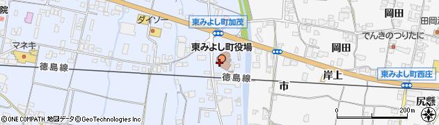 徳島県三好郡東みよし町周辺の地図