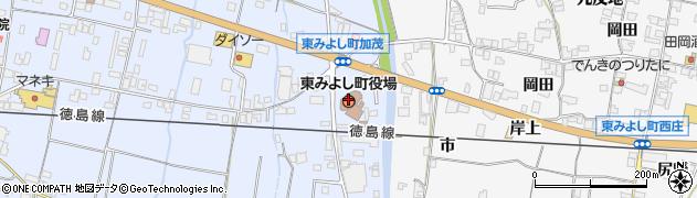 徳島県東みよし町(三好郡)周辺の地図
