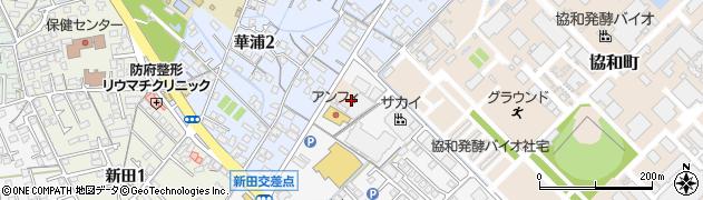 山口県防府市三田尻村周辺の地図