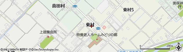 愛媛県今治市東村周辺の地図