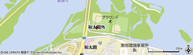 徳島県徳島市論田町(和太開外)周辺の地図